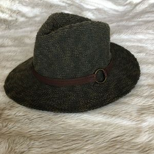 Accessories - Olive Green Woven Hat